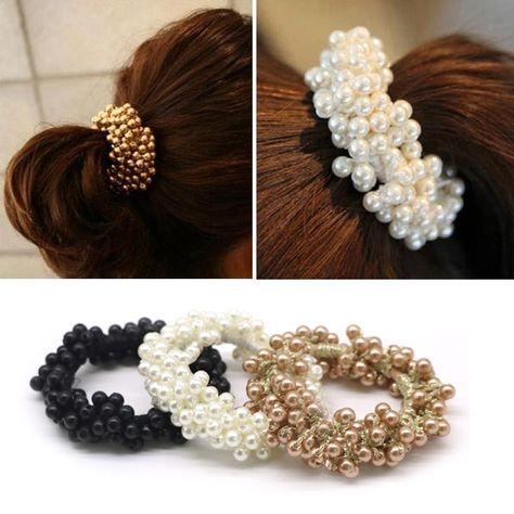 1pcs Ponytail Holder Elastic Rope Ring Hairband Women Girls Baby Hair Ties