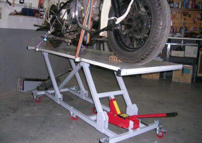 Elevador De Motos Casero Fabricación Harley Clasica Rampa Para Motos Taller De Motos Diseño De Motos