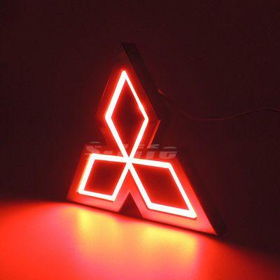5d Led Tail Logo Badge Emblem Light For Galant Lancer Lioncel Asx Mitsubishi Red Lancer Logo Wallpaper Hd Emblems