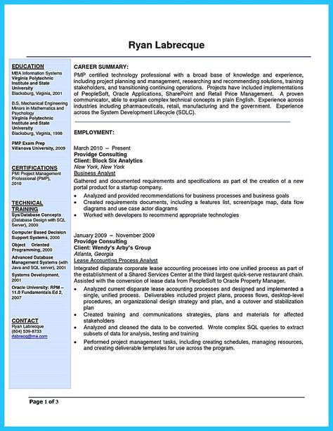 nice Create Your Astonishing Business Analyst Resume and Gain the - sharepoint business analyst sample resume