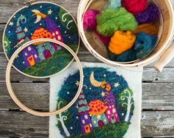 Whimsy Houses Needle Felting KIT ONLY | Etsy
