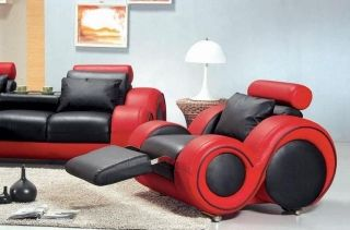Contemporary Black And Red Leather Sofa Set Home Living Ideas In