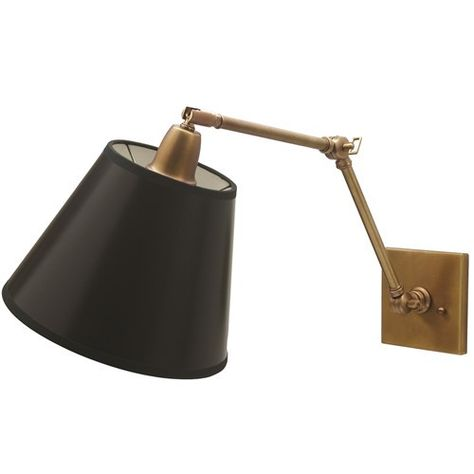 House Of Troy Weathered Brass Library Lamp Dl20 Wb Swing Arm Wall Lamps Swing Arm Wall Sconce Wall Lights