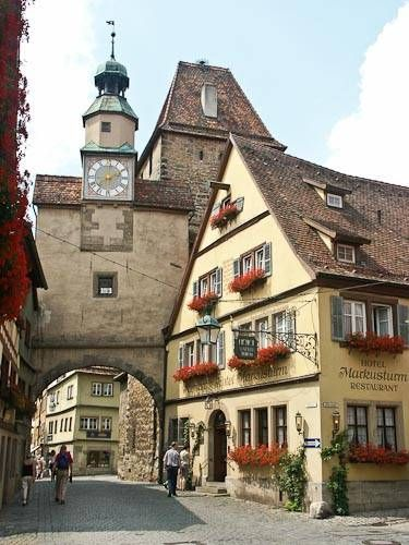 of the Walled City of Rothenburg, Bavaria, Germany. I of my favorite places in Germany to visit.View of the Walled City of Rothenburg, Bavaria, Germany. I of my favorite places in Germany to visit.
