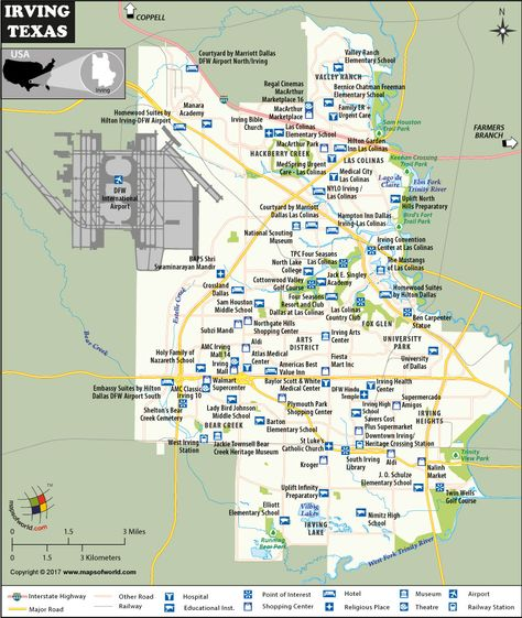 Irving City Map Texas US Cities Pinterest City maps Texas and
