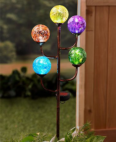Outdoor Patio Multicolored The Lakeside Collection Hanging Globe Solar Lights Porch Pendant Lamp