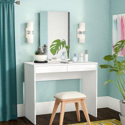 Kenzie Vanity with Mirror in 2019 | Vanity, Decor interior ...