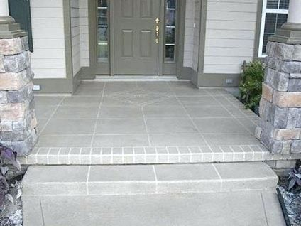 Front Porch Flooring Ideas Tile Walkway