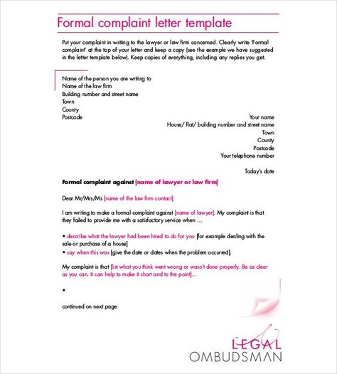 Complain? Who ME? ) Ten Tips for Writing a Complaint Letter (they - complaint letter