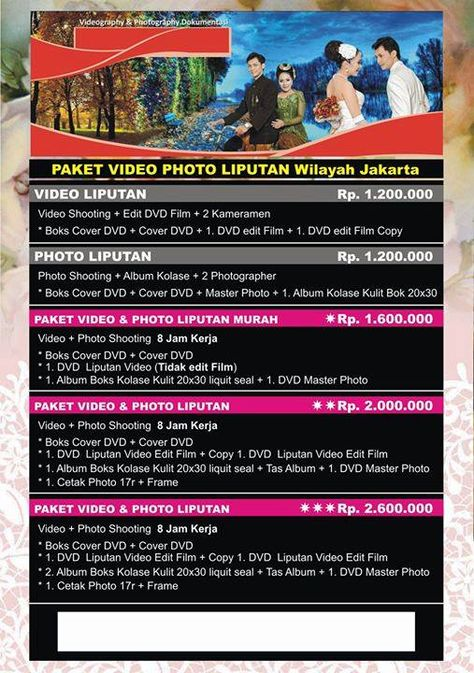 20 Harga Video Shooting Jakarta Jakarta Foto Wedding Video