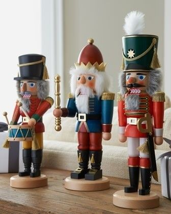Nut Crackers Holiday Decorations - I love these little guys !