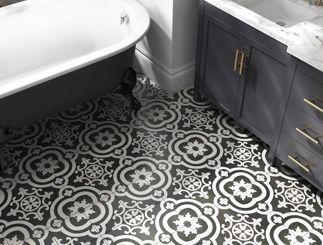 Encaustic Tiles Image Via Lowe S Bathroomdesign Bathroomtile Encasustictile Bathroomgoals Bathroomrenovation Bathroom Flooring Tile Floor Tile Bathroom