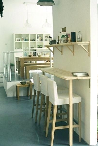 Breakfast Bar Against Wall Google Search Kitchen Bar Table