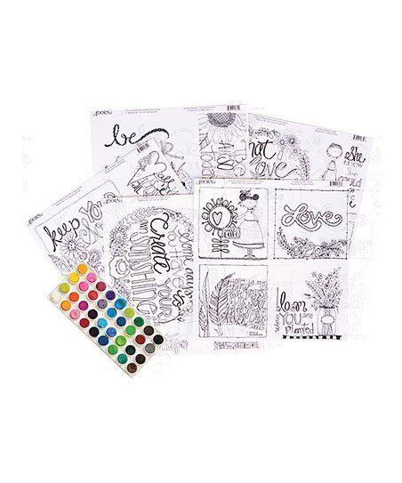 Adornit Coloring Sheet Set Of 12 Zulily Coloring Sheets Sheet Sets Color