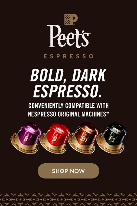 Delve into a deeper kind of dark with the complexity and nuances of our signature dark espresso, now in capsules that fit your Nespresso Original machine*.
