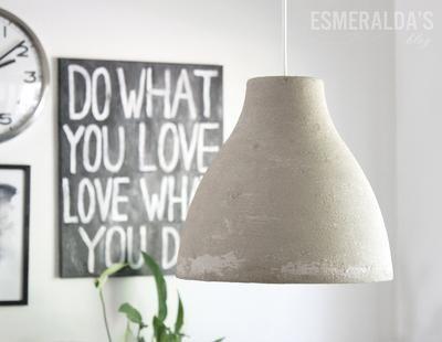Eine Ikea Melodi Lampe Mit Beton Bestreichen Trocken Lassen Und