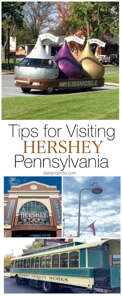 """After our visit, it's easy to see why they call Hershey PA """"the sweetest place on earth"""". I'm sharing a few of the fun places we visited while we were there! Places In Usa, Usa Places To Visit, Places To Go, Camping In Pennsylvania, Hershey Pennsylvania, East Coast Road Trip, Us Road Trip, Best Vacations, Vacation Destinations"""