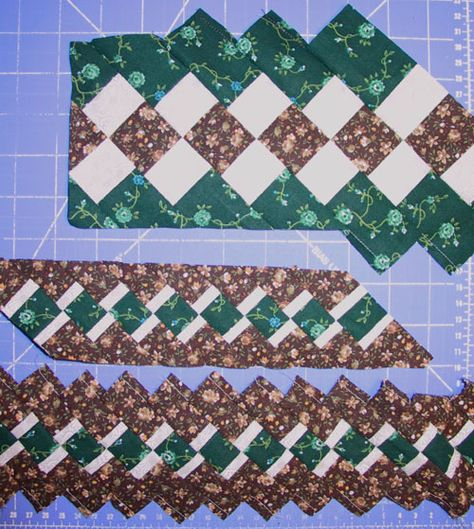 Seminole Patchwork strips. Use as decorative bands or make the whole project of them.