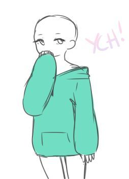 Closed Baggy Hoodie Ych Paypal Points By Meidostuff Drawing Base Drawing Poses Art Reference Poses