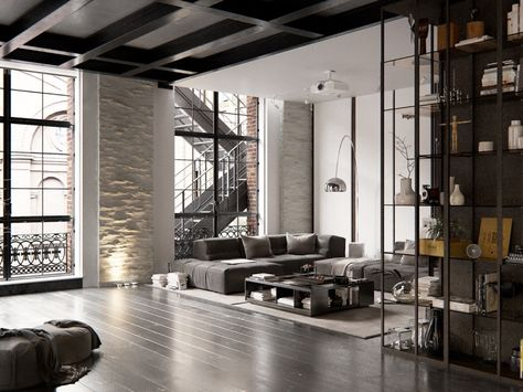 Next Stop Pinterest Casa Stile Industriale Appartamento