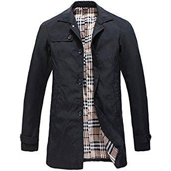 Manteau Printemps Pinkpum Trench Homme Coat Eté Classique BeCrdxo
