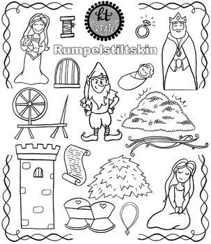 Rumpelstiltskin Fairytale Clipart Set Kt By Kt Creates By Katie Bennett Teachers Pay Teachers Fairy Tales Rumpelstiltskin Clip Art