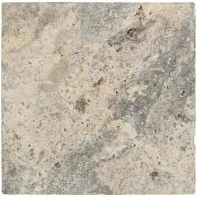 Msi Silver 16 In X 16 In Tumbled Travertine Paver Tile 20 Pieces 35 6 Sq Ft Pallet Silver Tumbled Travertine Travertine Pavers Travertine Travertine Floors