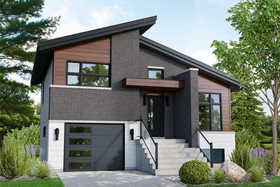 Plan 80915pm Modern 2 Bed Split Level Home Plan Small Modern House Plans Modern House Plans Small Modern Home