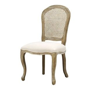 Camille Limewash Oak Rattan Back Chair The Cotswold Company