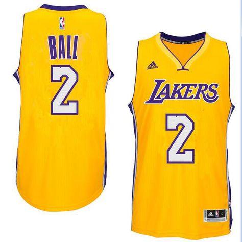 Men s Los Angeles Lakers Lonzo Ball adidas Gold 2017 NBA Draft  2 Pick Swingman  home Jersey 4a2ef9fb5