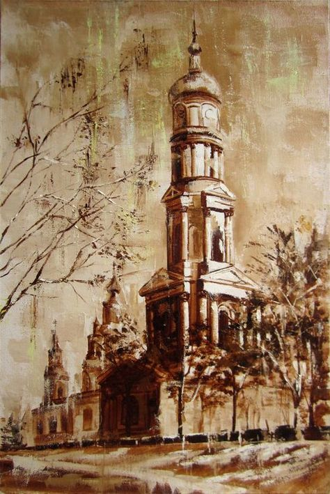 """City after rain, """"Cathedral of the Assumption"""" (Собор Успенский)"""