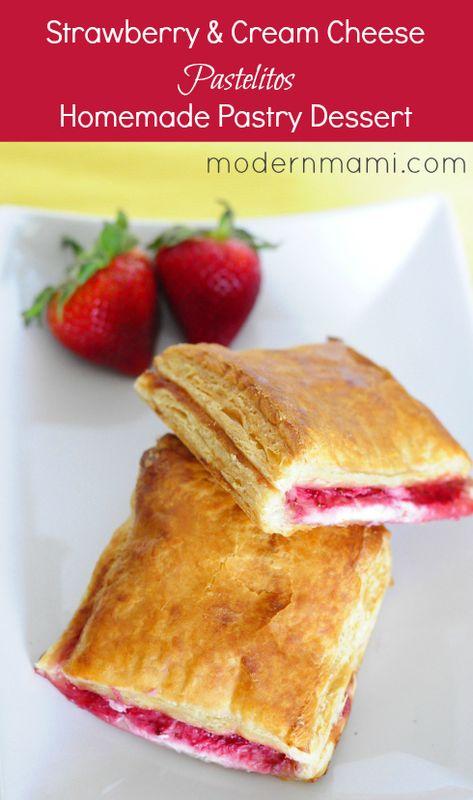 Strawberries and Cream Cheese Pastelitos (Puff Pastry Dessert) Recipe