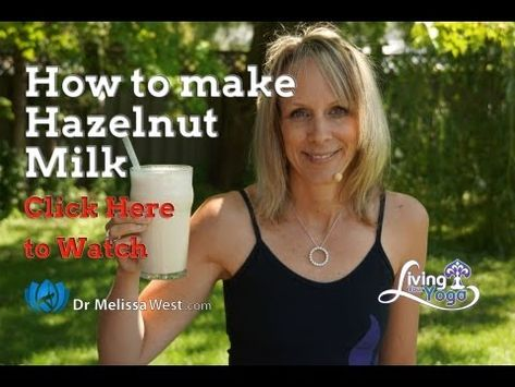 How to make awesome Hazelnut Milk with Dr Melissa West, and a recipe for an iced rooibos latte with hazelnut milk