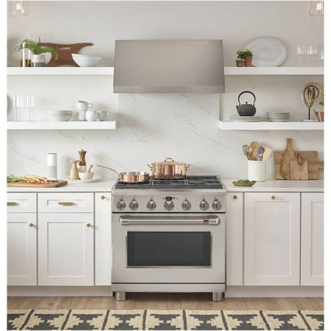 Café - 6.2 Cu. Ft. Self-Cleaning Freestanding Gas Convection Range - Stainless steel