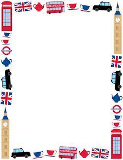 Fait London Border With Images London Theme Travel Scrapbook