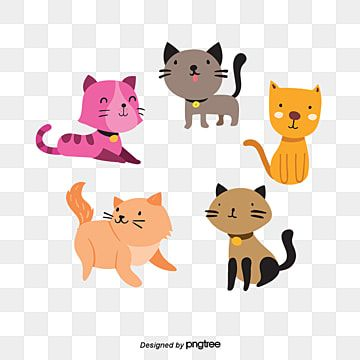 Vetor De Desenho De Gato Desenho Animado Gato Vetor Png Imagem Para Download Gratuito Cat Clipart Cartoon Clip Art Cartoon Cat