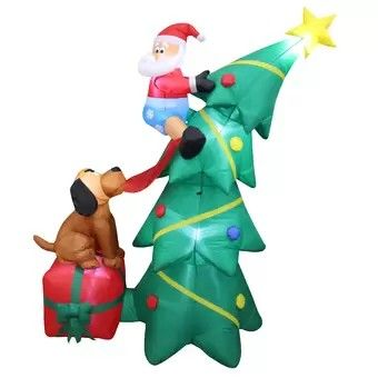 Pin By Art Hernandez On Christmas Inflatable Decorations In 2020 Inflatable Christmas Tree Outdoor Christmas Decorations Christmas Tree And Santa