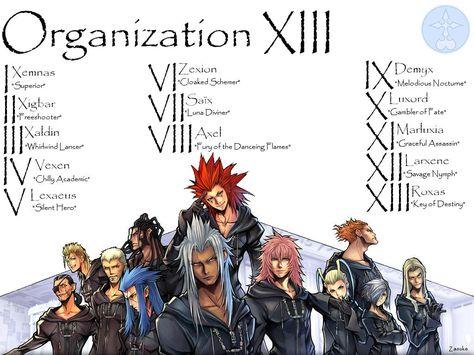 Kingdom Hearts Organization 13 | Kingdom Hearts 2 PS2 Cheats Images