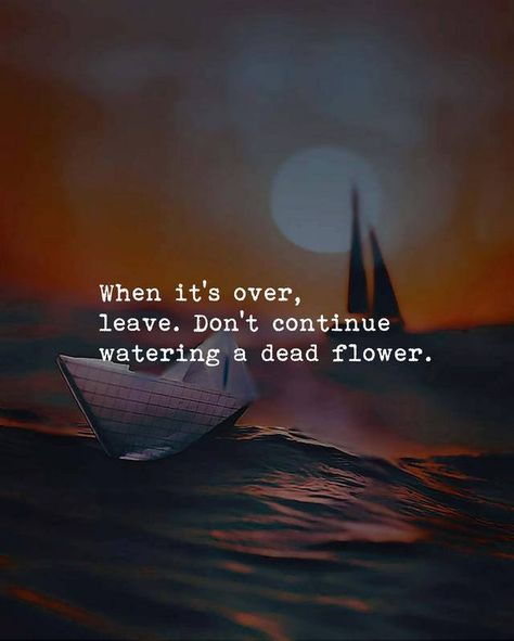 Sometimes we just need to let go and move on