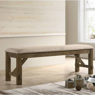 Poe Extendable Dining Set In 2020 Upholstered Bench Wood Dining
