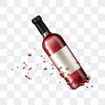 Falling Red Wine Glass Bottle With Drops Realistic Wine Bottle Isolated Png And Vector With Transparent Background For Free Download Bottle Wine Bottle Glass Wine