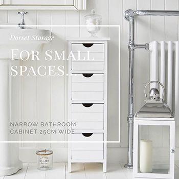 The White Lighthouse Furniture Dorset Narrow Bathroom Cabinet 4