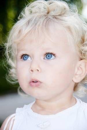 Stock Photo Blonde Babies Blonde Baby Girl Baby Girl Blue Eyes