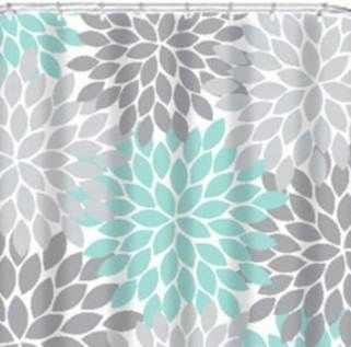 48 Ideas Bathroom Themes Gray Shower Curtains For 2019 Bathroom Gray Shower Curtains Green Shower Curtains Coral Aqua