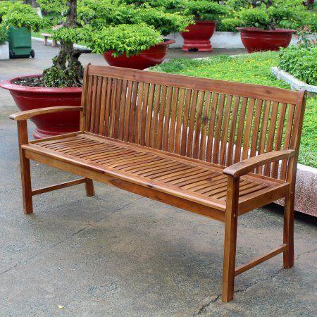 Highland Acacia Hudson 3 Seater Park Bench Size 23 Inchw X 35