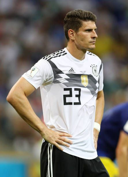 Mario Gomez Of Germany Looks On During The 2018 Fifa World Cup Russia Group F Match Between Germany And Sweden At Fisht Stadium On June Mario Gomez Futbol Fifa