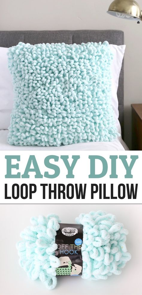 Easy Yarn Craft For Adults (DIY Textured Throw Pillow)