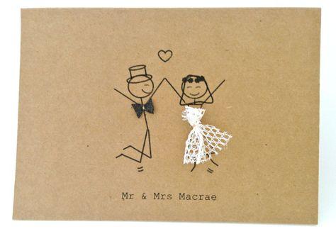 Mr & Mrs stick figures #thankyou