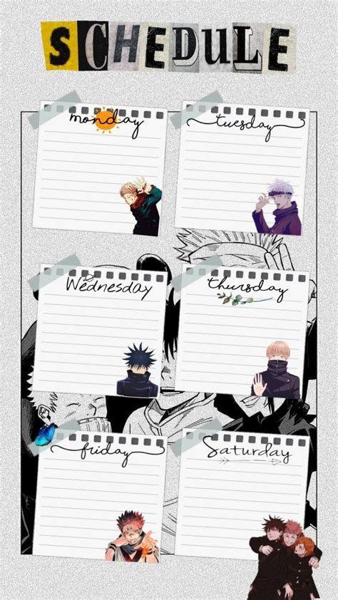 Pin Oleh Amira Daniela Di Otaku Di 2021 Kartu Catatan In 2021 Anime Paper Anime Schedule Printable Scrapbook Paper
