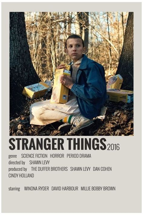 minimalist movie posters polaroid stranger things